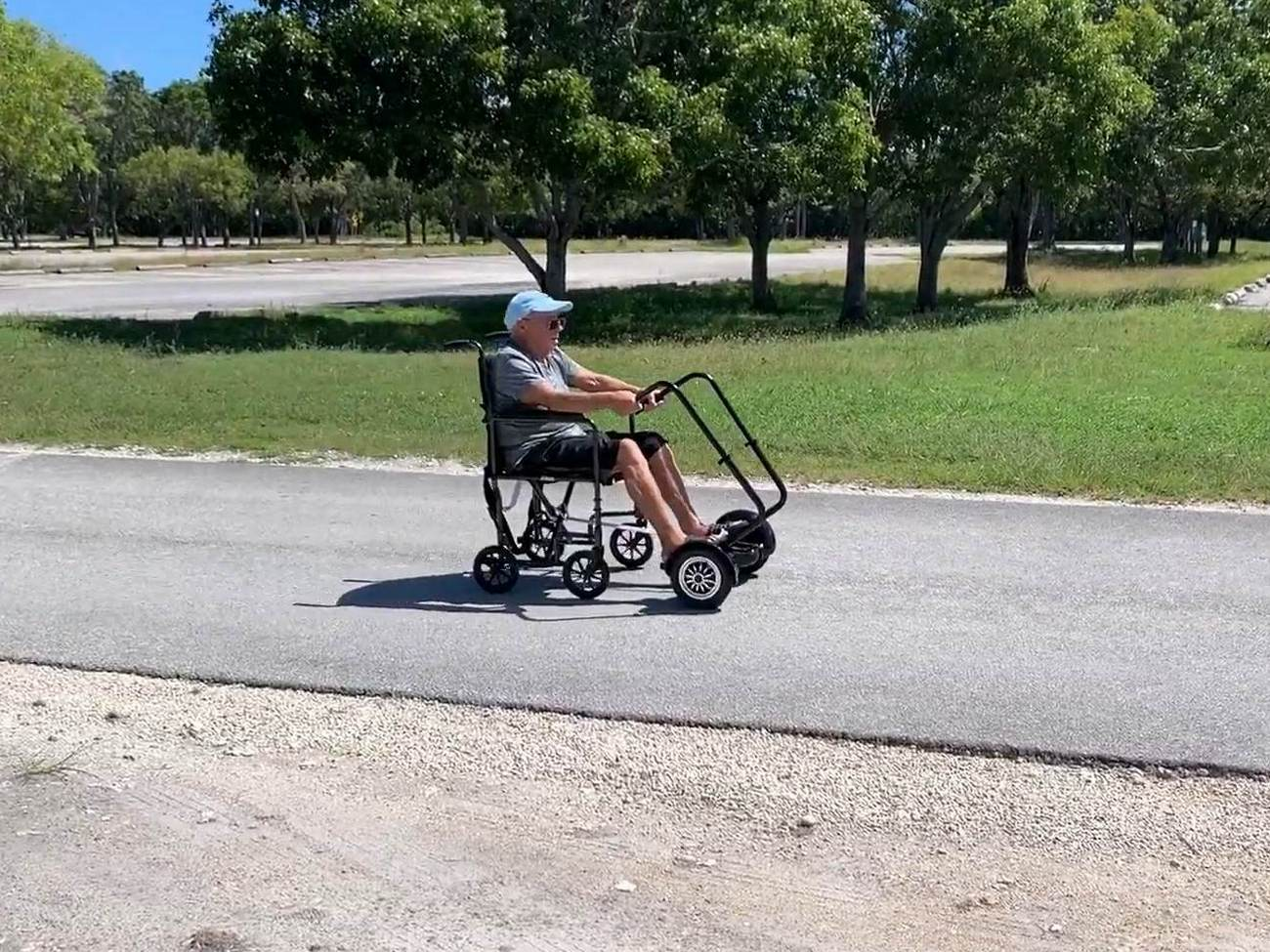 Wheelchair with hoverboard
