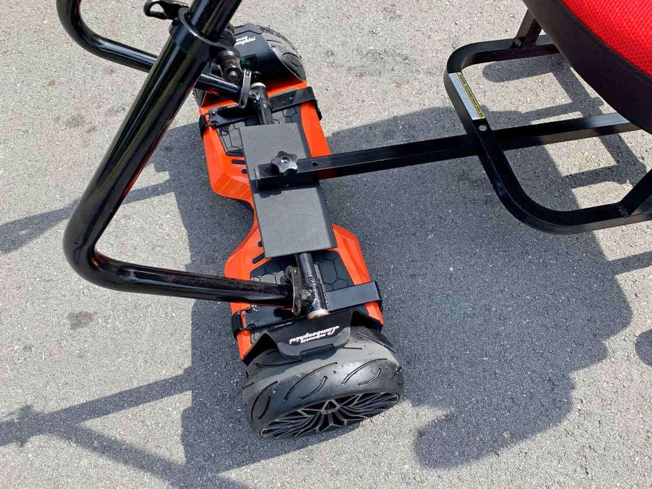 Customized HoverSeat Deluxe with handles