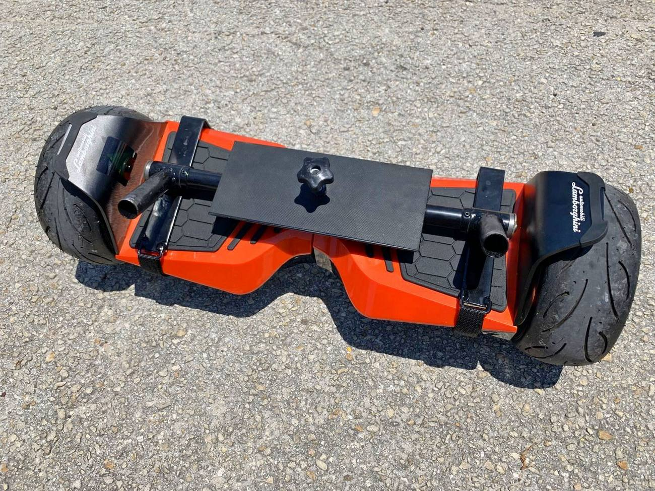 Add on installed on non round hoverboard
