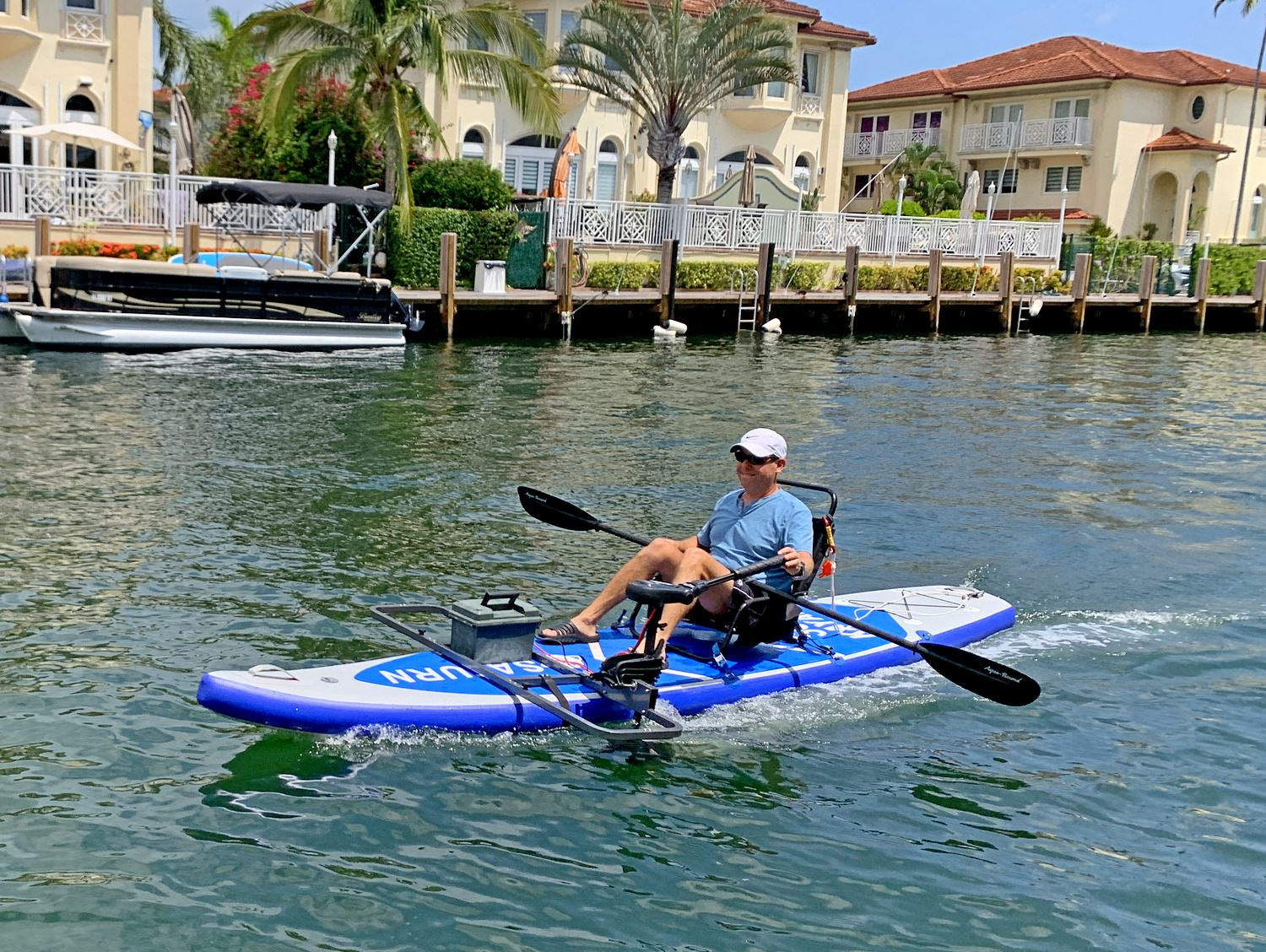 Ride with electric trolling motor