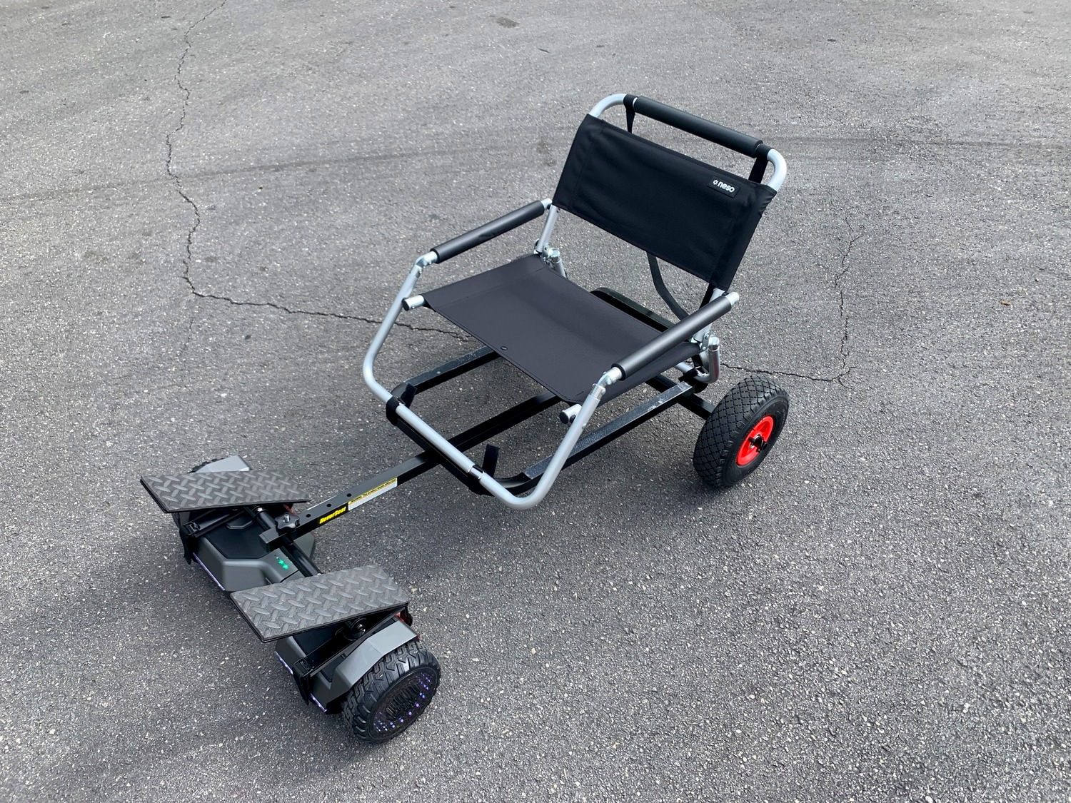 HoverSeat with folding chair