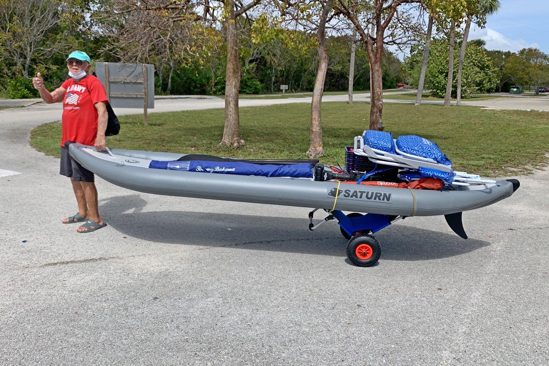 Kayak cart trolley