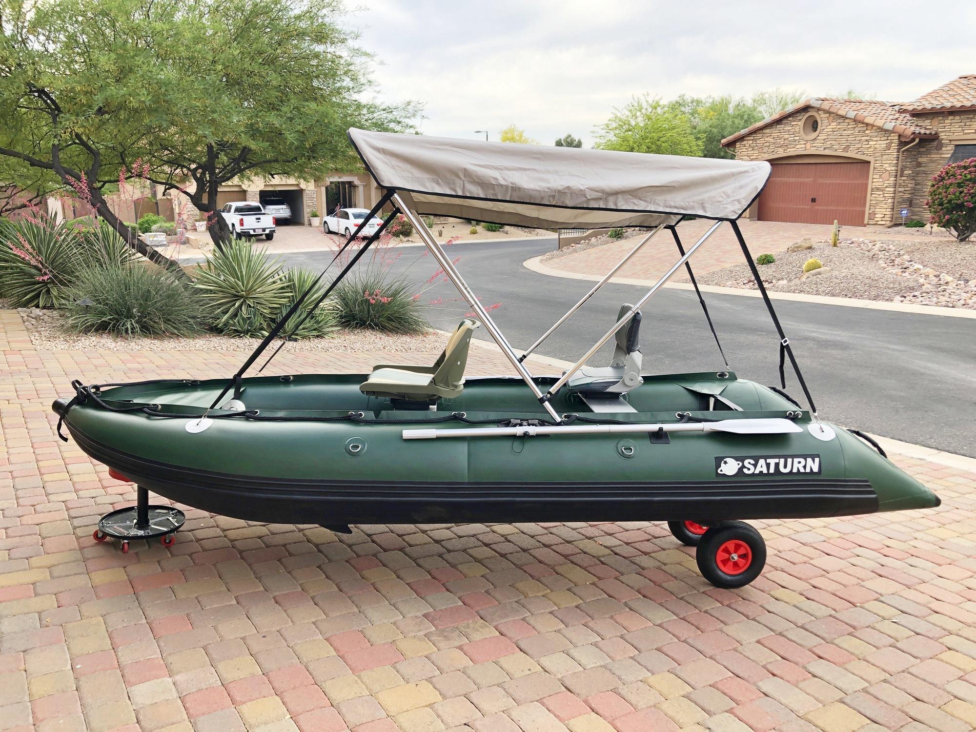 2-Bow Bimini on SK470XL KaBoat