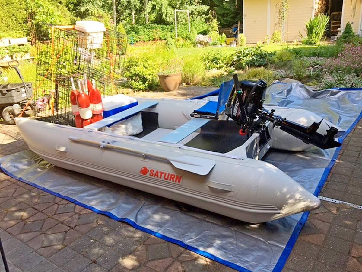 MC365 ready for crabbing.
