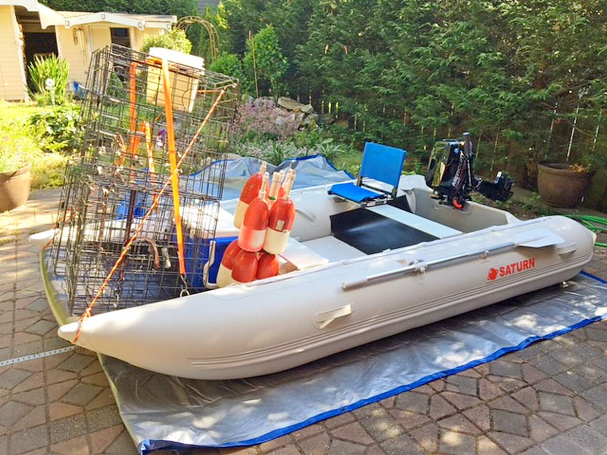 MC365 set up for crabbing.