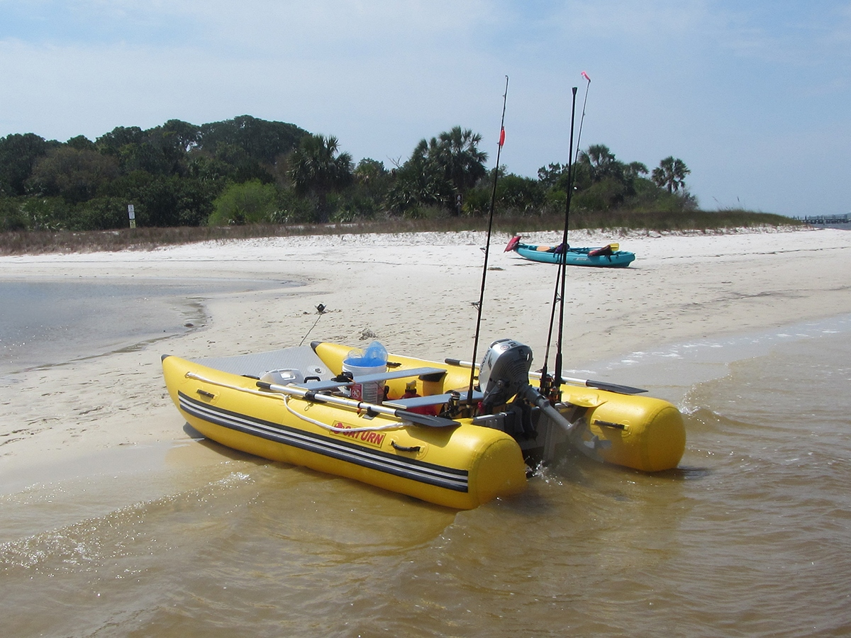 Inflatable sport catamaran boat mc330 for Inflatable fly fishing boats