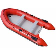 Red Gray SD385 Inflatable Boat
