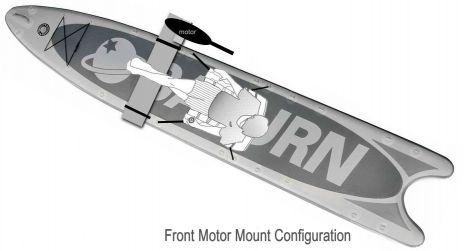 Saturn MotoSUP Kayak Paddle Board MSUP414