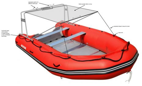 Arch for inflatable boats