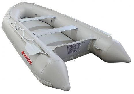 Saturn Gray SD385 Inflatable Boat