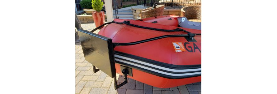 DIY motor mount for bow of inflatable boat