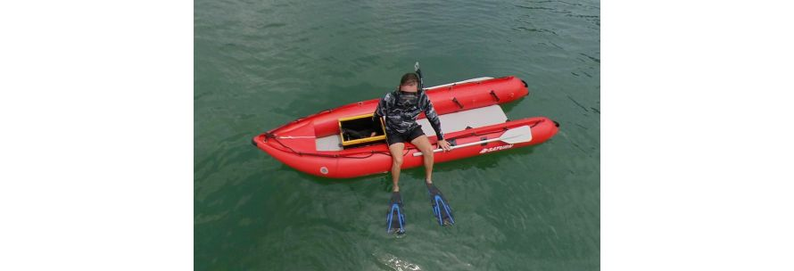 inflatable diving snorkeling boat